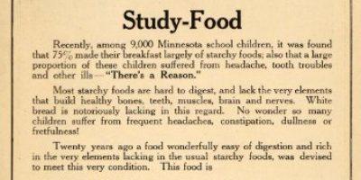 1915 Ad Grape Nuts Cereal Food Study Minnesota Children Breakfast Girl Healthy - Original Print Ad